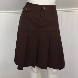 Tommy Hilfiger School Girl Pleated Skirt Brown